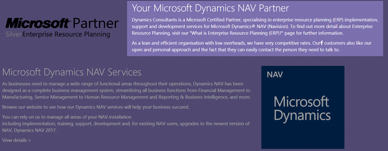 Dynamics Nav Screen Shot