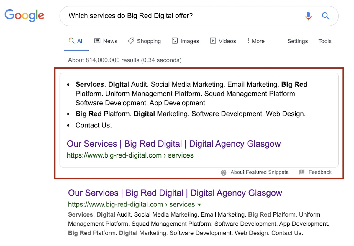 which services do big red digital offer
