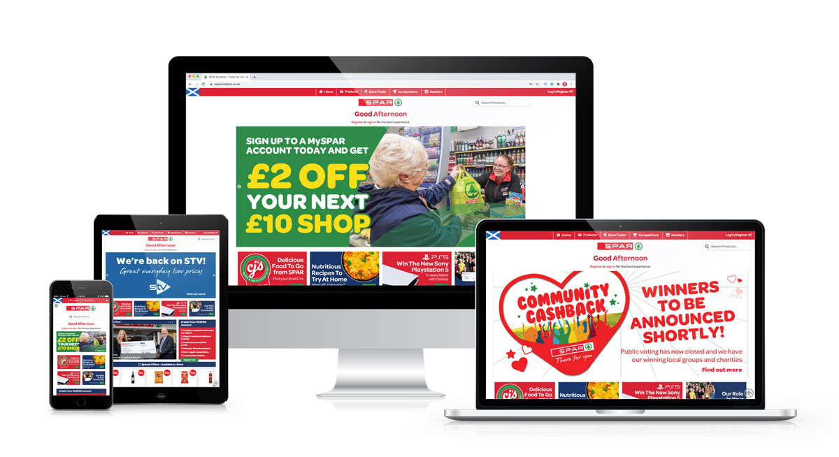 SPAR Scotland Website Device Responsive