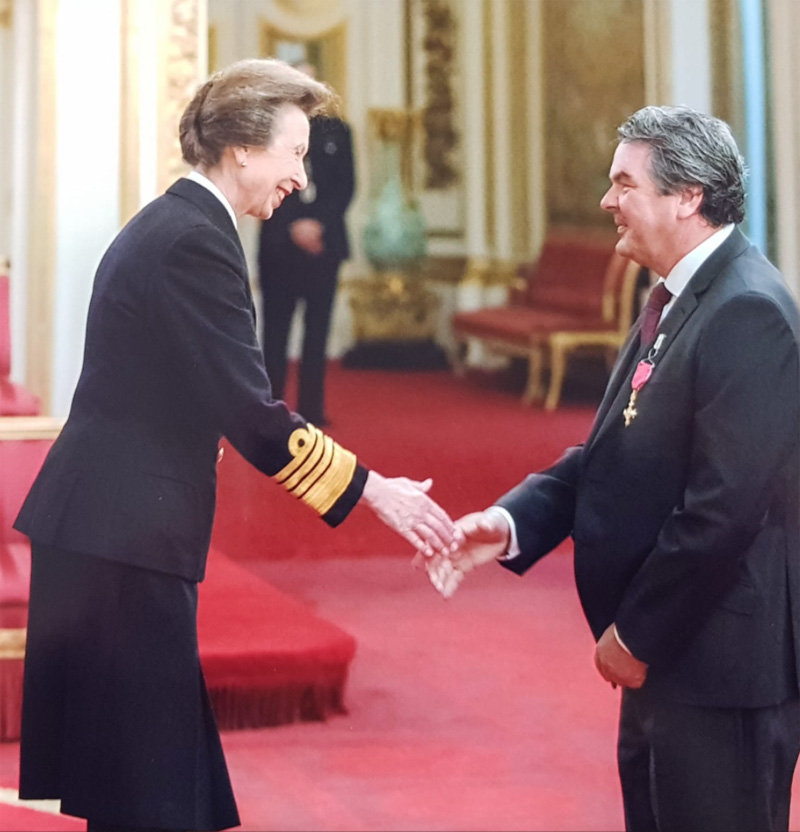 Big Red's Chic McSherry collects OBE