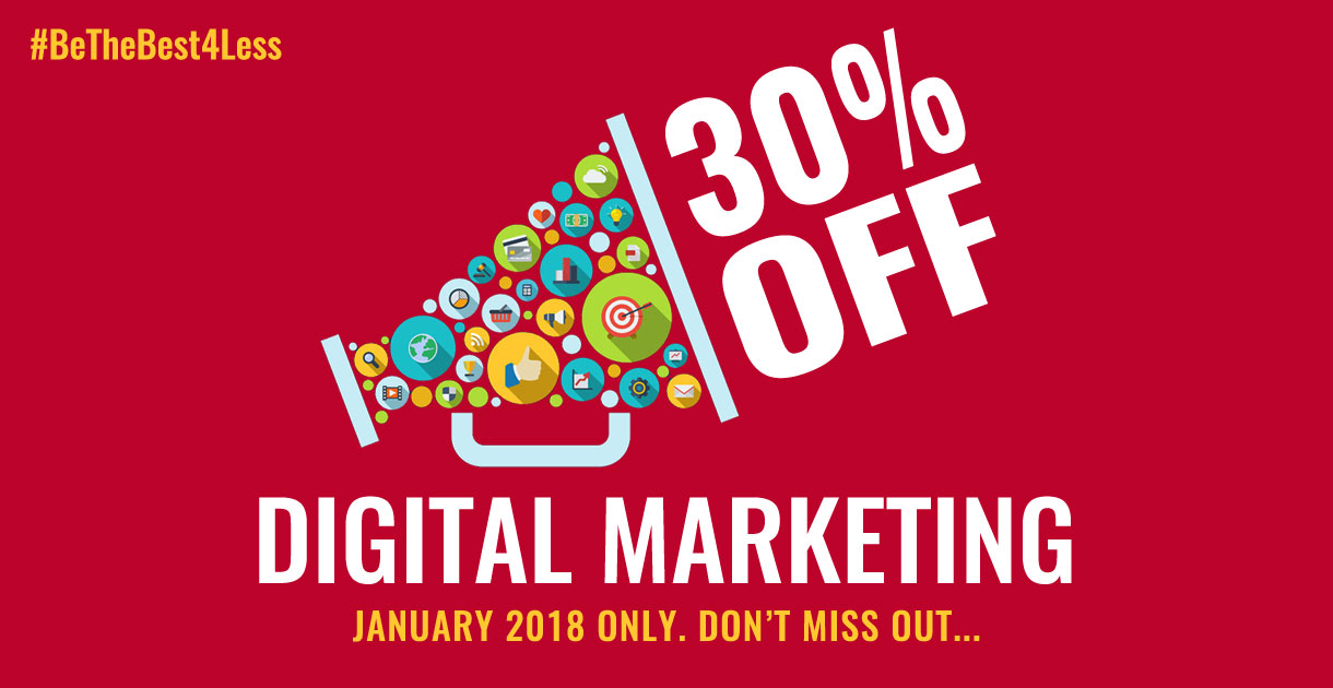 30% Off Digital Marketing Services in January   Big Red, Glasgow