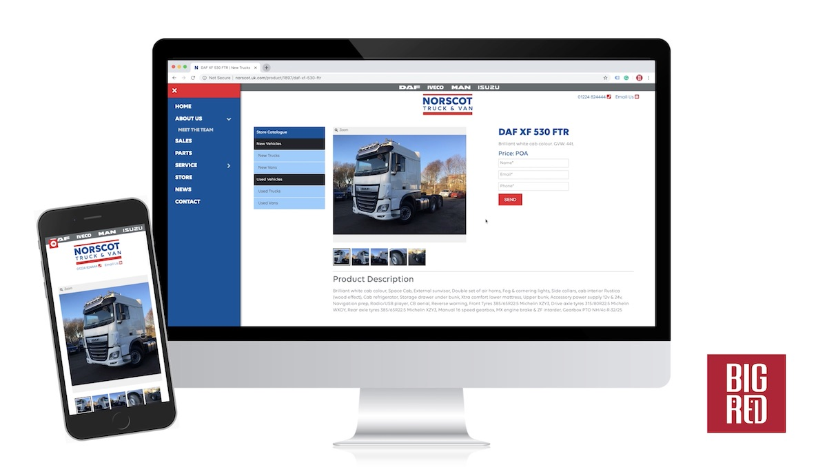 Big Red Digital Launch Website for Norscot Truck & Van