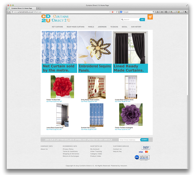 Site Makeover & SEO Support For Curtains Direct