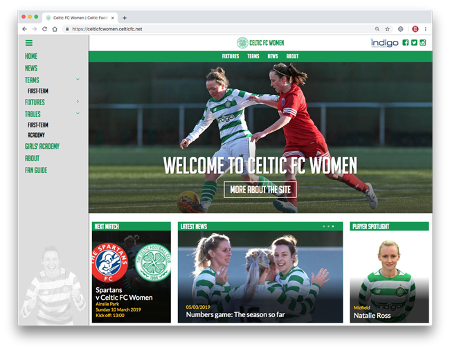 Celtic FC Launch New Website with Big Red