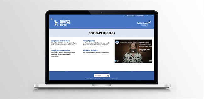 Covid-19 Platform Launch for Public Health Scotland by Big Red Digital